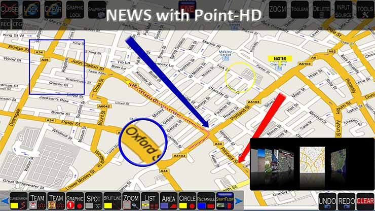Point HD Broadcast Telestrator for Traffic News Reports