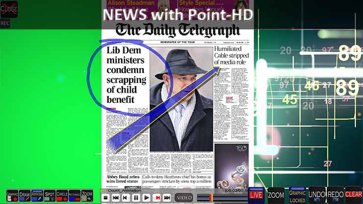 Point HD Broadcast Telestrator for Newspaper Reviews