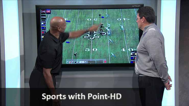 Point HD Broadcast Telestrator Sports Carolina Panthers