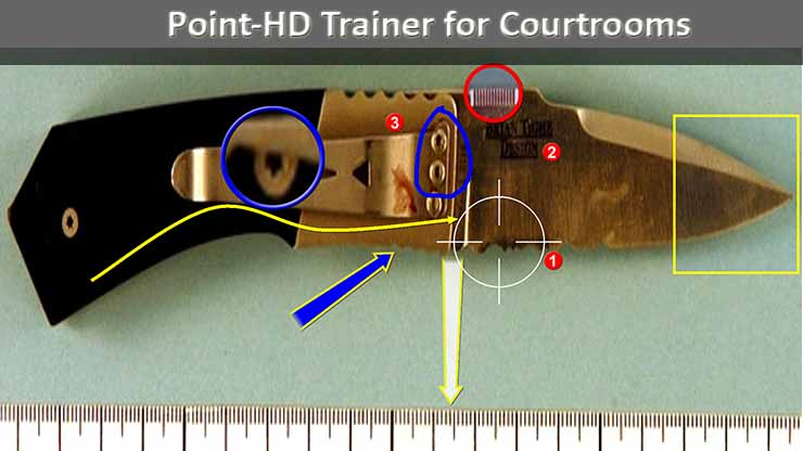 Point HD Trainer Telestrator for Courtrooms