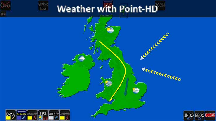 Point HD Broadcast Weather Telestrator