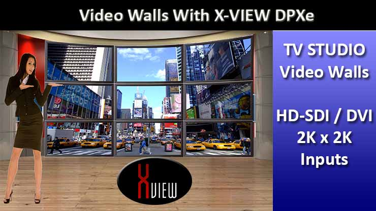 X-View Video walls TV Studios
